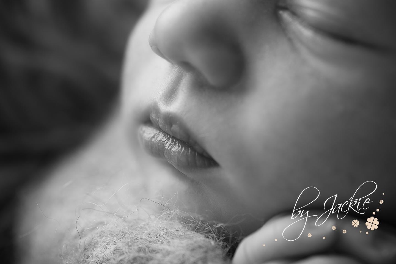 Macro image of newborn baby lips by Babies By Jackie, York, North Yorkshire, UK