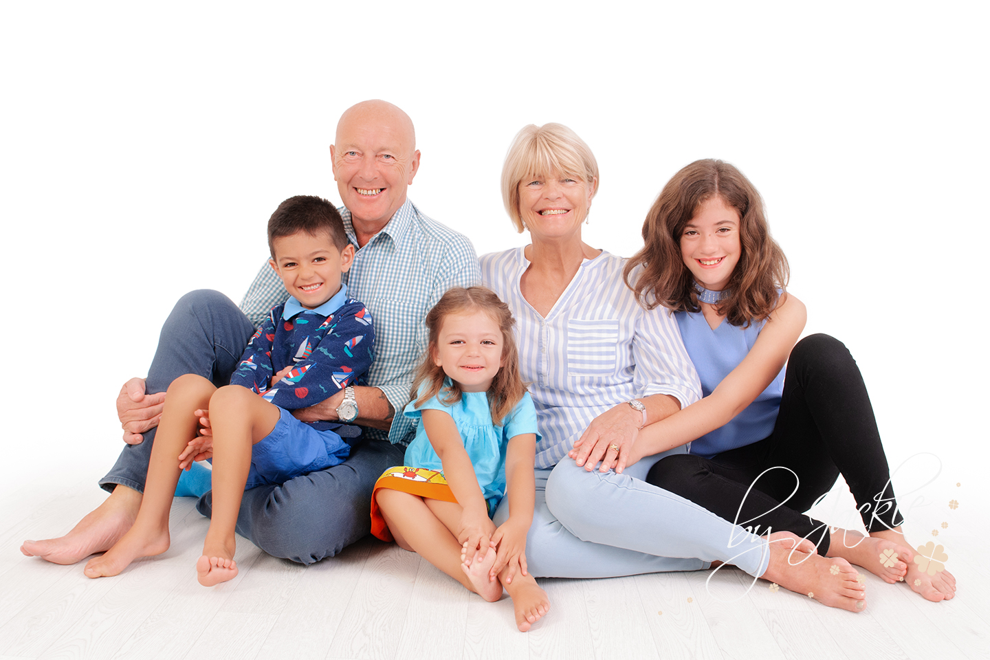 Family portrait photography in studio. Image copyright By Jackie Photography, in Market Weighton, York, Yorkshire UK
