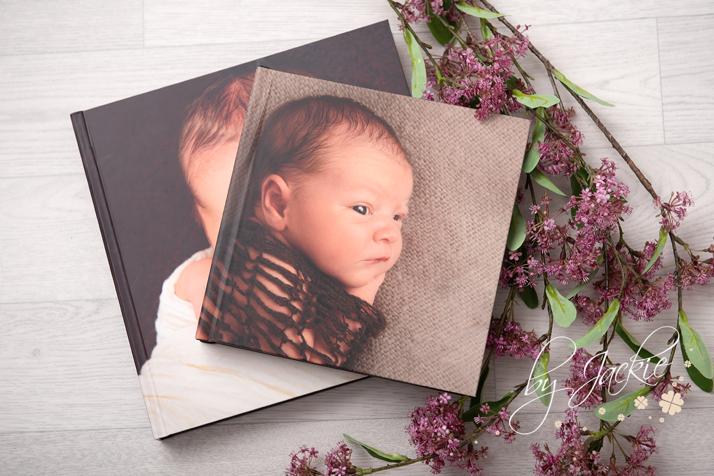 Beautiful photobook albums by Babies By Jackie