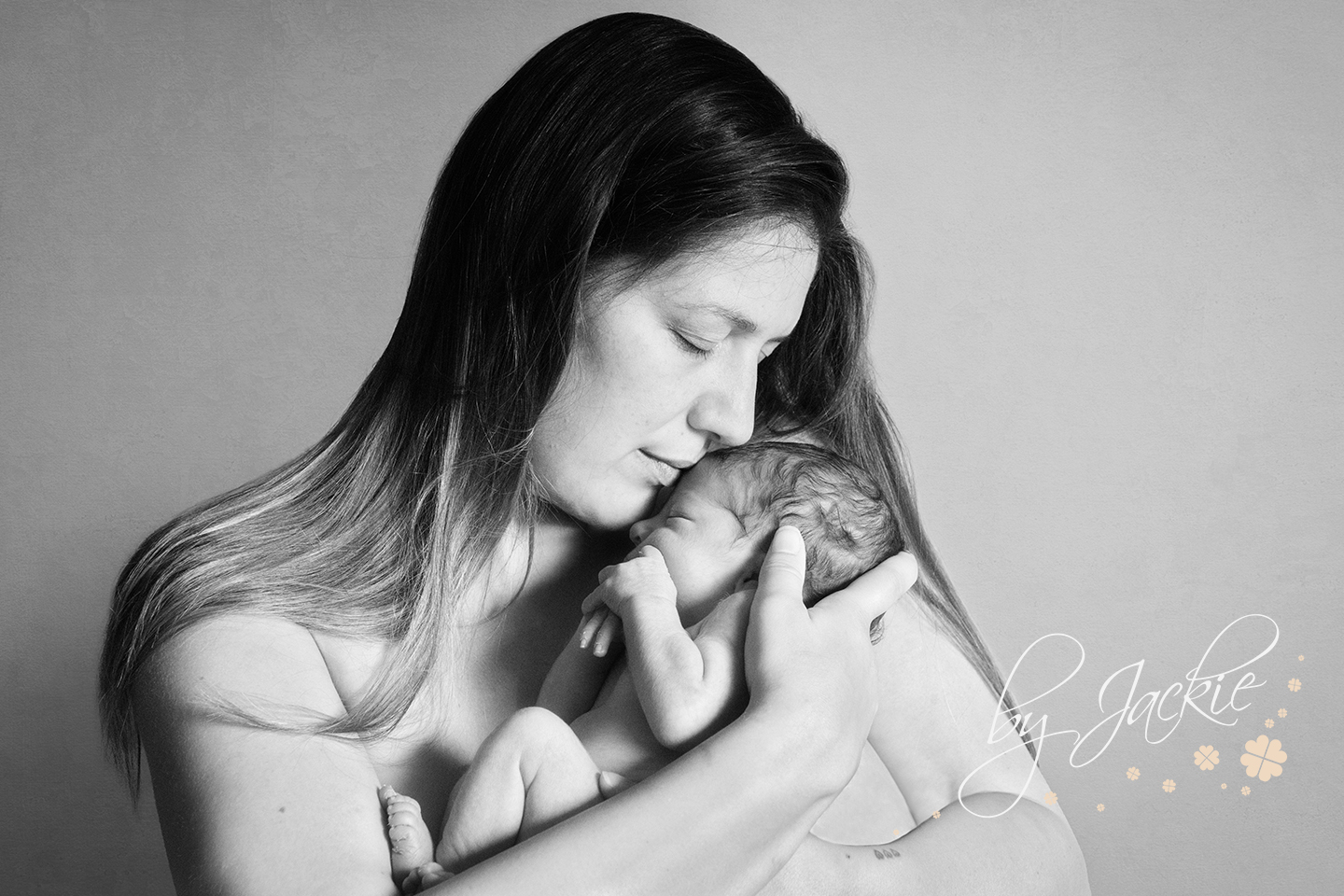 Image of a mum with her brand new baby girl, photograph by Babies By Jackie, in Market Weighton near Beverley, Hull, Hessle, Howden and York in Yorkshire UK
