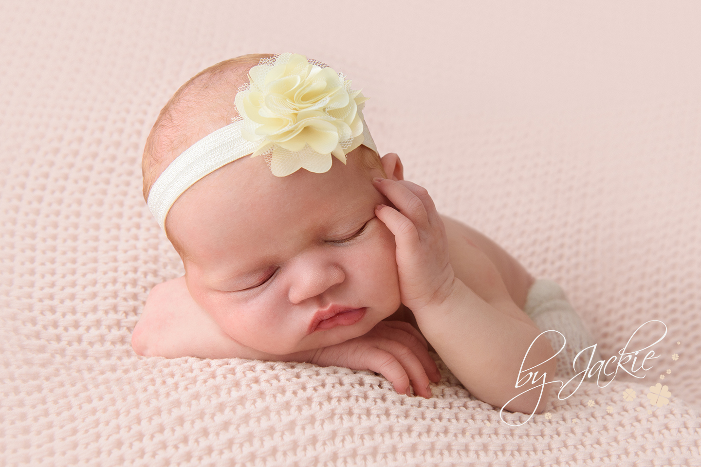 Newborn baby girl, photograph by Babies By Jackie, near Beverley, Hull, Hessle, Howden and York in Yorkshire UK