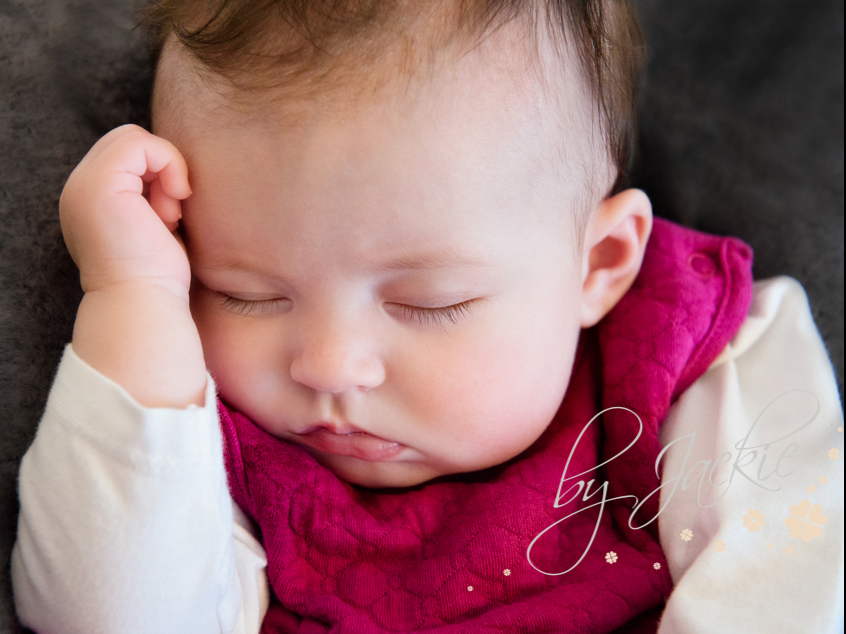 Sleepy older baby girl by Babies By Jackie