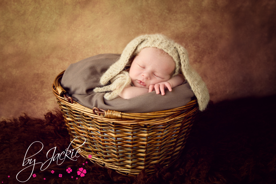 Baby in basket, newborn baby by Babies By Jackie, York, Howden and Leeds, UK