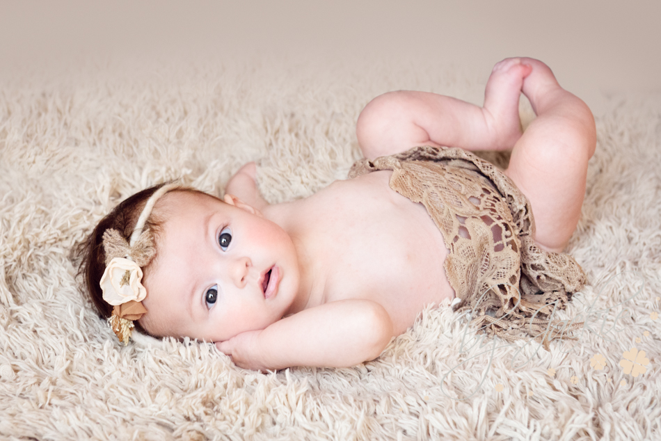 Four month old baby girl photographed by Babies By Jackie near York, Howden, Beverley, Hull and Selby