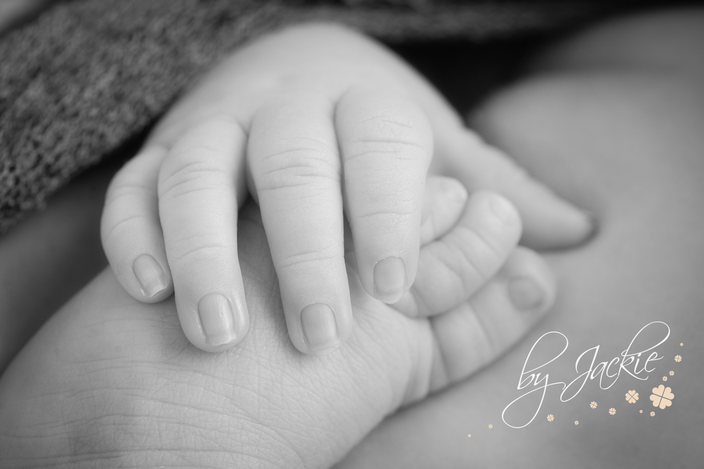 Close up image of baby's hand holding his own foot by Babies By Jackie in Market Weighton, near Beverley, Hessle and Hull, East Ridings of Yorkshire, UK