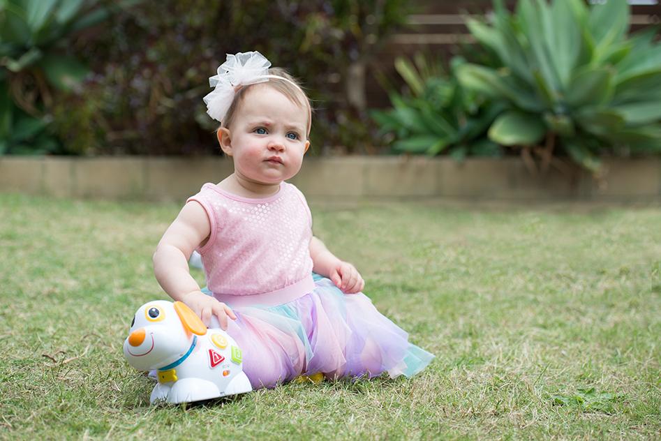 Little girl portrait at home