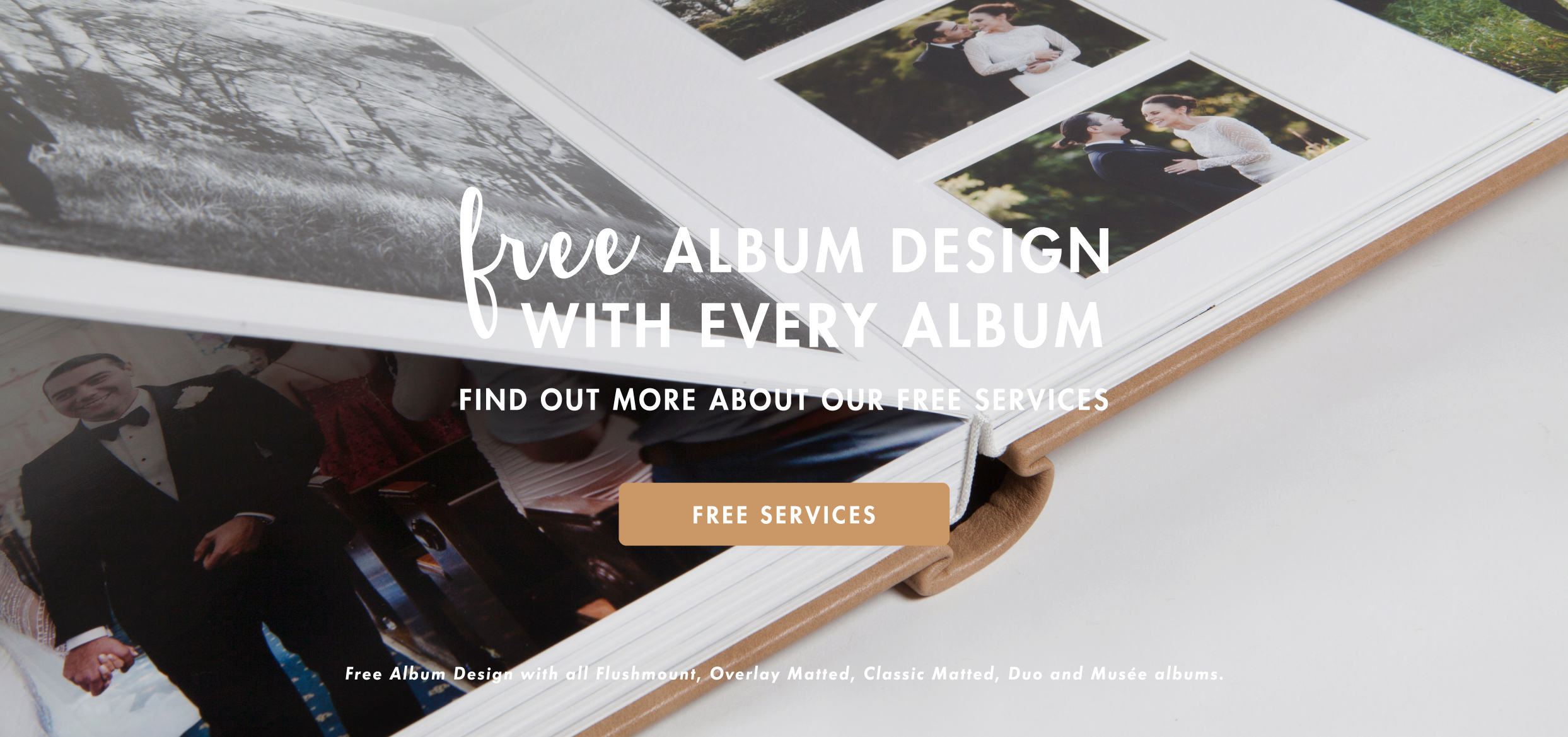 Free album design and colour correction available at Queensberry