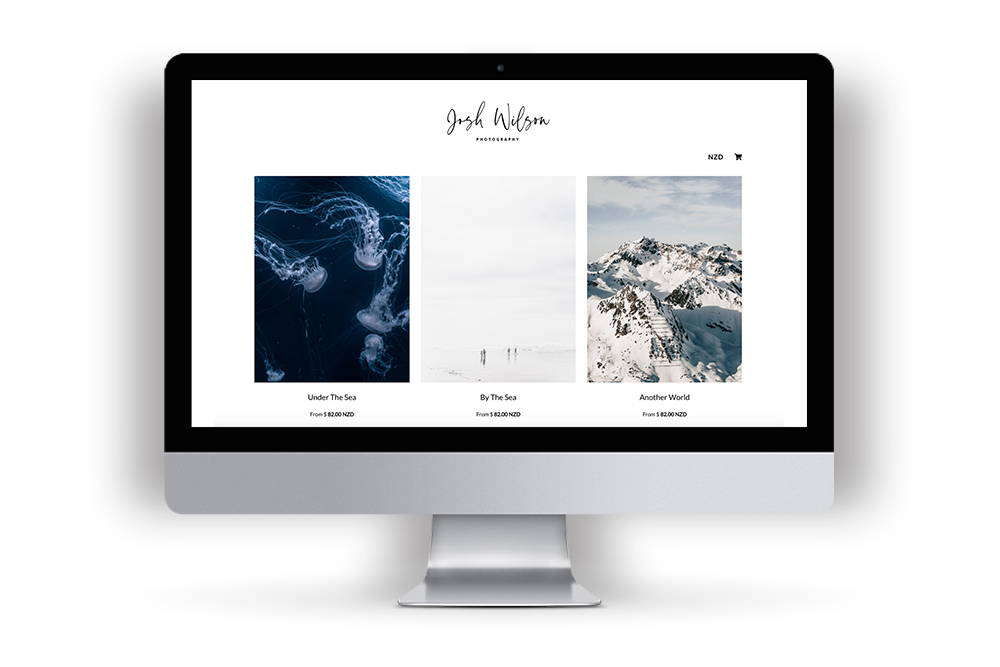 Picture of Josh Wilson Photography's example website built in Workspace