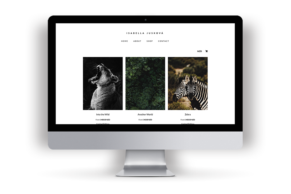 Picture of Isabella Photography's example website built in Workspace