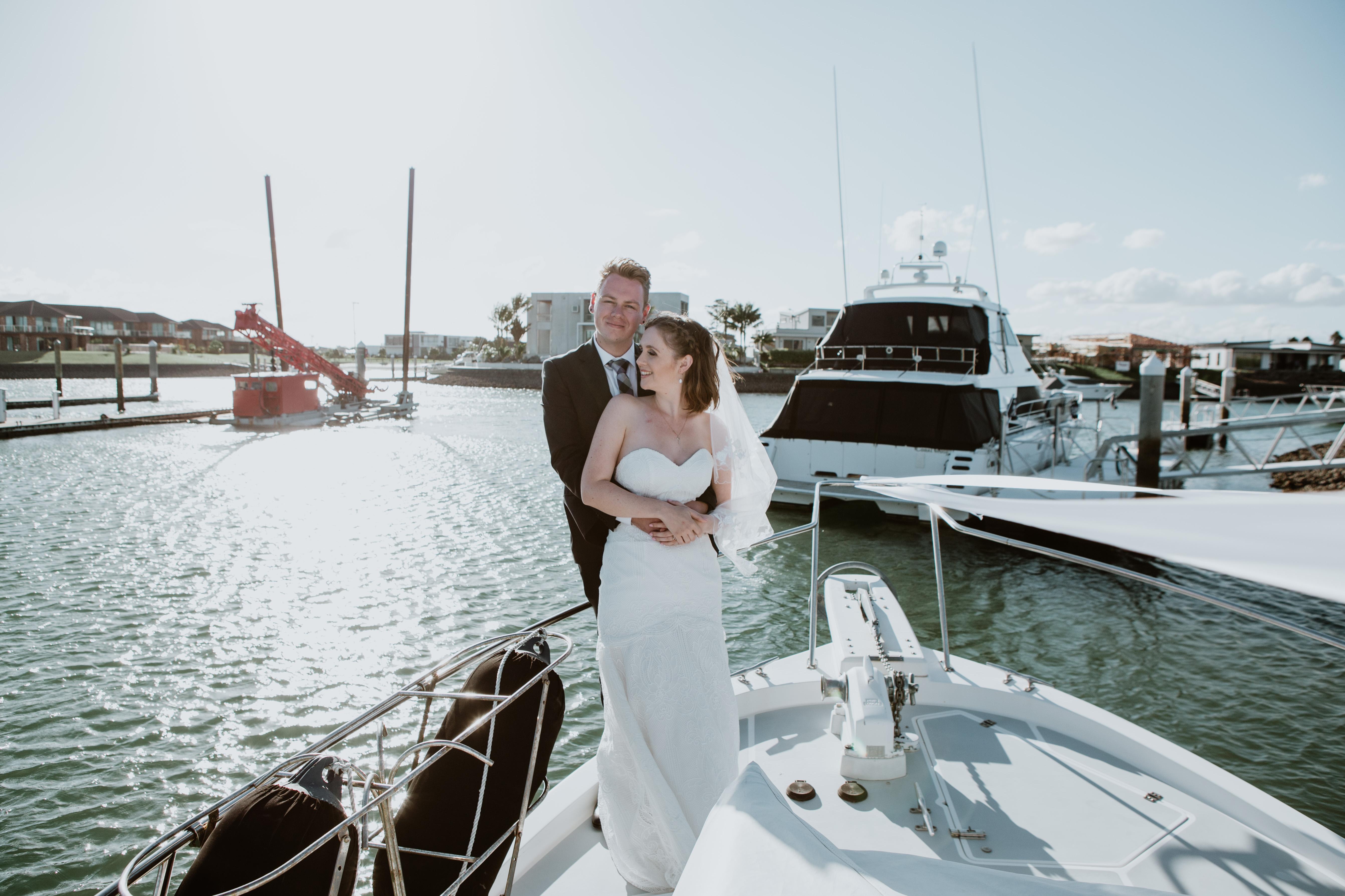 wedding photography on Ship